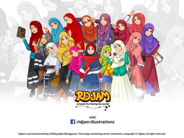 Muslim Woman and Girl Fashion by RIDJAM