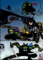 Batman Tmnt colored by nic011