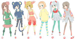 Adopt a pokemon style outfit human Gijinka closed by LikeAnArtist