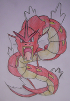 Red Gyarados by DreamDrifter91