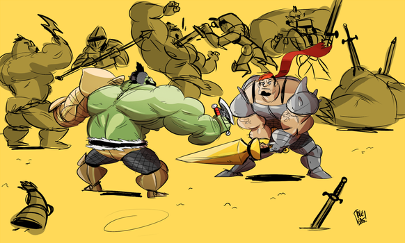 Orc vs Human by ItsTalegas