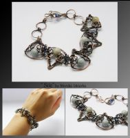 Sile- wire wrapped bracelet by mea00