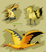 Pokemon Design Challenge: Zapdos by yankiidoodles