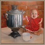 Girl with samovar by LencIrina