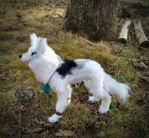 Posable trible wolf Art doll Glow in the dark eyes by HoneyCricket