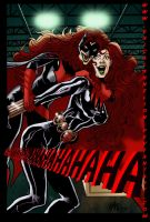 BatWoman Black Widow Jokerized by ericalannelson