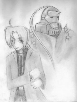 Elric Brothers- Pencil sketch by Madd-Mikk