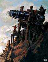 Dwarven Harpoon Cannon by carloscara