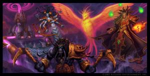 Kael'Thas and Crew by GlennRaneArt