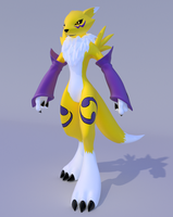 Renamon V.2 Blender Download by Mikiel2171