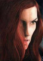 Famke Janssen as Phoenix by McInchakArt