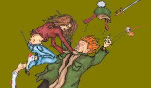 Hermione Attacks Ron by ErikRoger