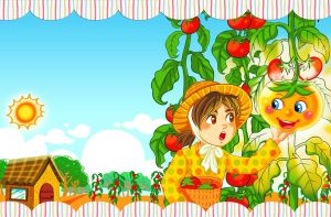 Tasha and the Magic Tomato - cover 1 by ambientdream