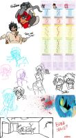-PG- Sketch Dump Madness by ISleepUnderYourBed