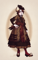 Fallene's Fall and Winter Day Dress by Seitou