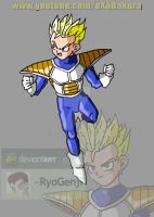 SSJ Kid Gohan (namek saga) V1 what if character by RyoGenji