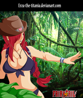 Erza in the jungle by Erza-the-titania