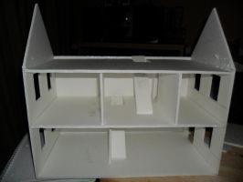 Second Foam Core Dollhouse WIP 2 by kayanah