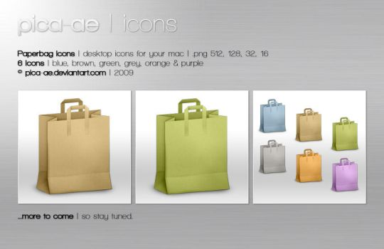 Paperbag Icons by pica-ae
