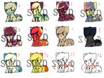 1,7,12 LEFT .:Point Adoptables:. by XSimplySater
