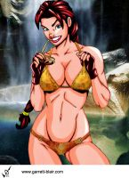 Firestar swimsuit by Mythical-Mommy