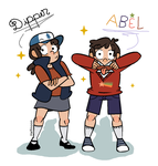 Dipper and Abel Pines by Maiden-HalfMoon