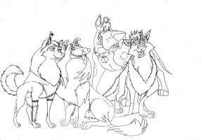 Kitara the wolfhound - sketches. 205 by MortenEng21