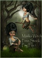 Mavka Witch free stock by moonchild-ljilja