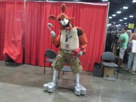 AX 2015 Day 2: Foxy Costume with Plush by LucarioShadow