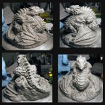 Dragon Sculpture COMPLETE! View set 1 Pre bake by MeadowsPrivateShop