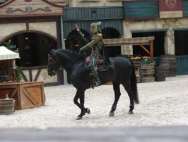 Raveleijn: green knight and his horse 2 by horse-power