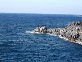 Sea and Rock Background 1 by SilverNight1079