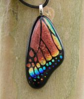 Copper Rainbow Glass Wing by FusedElegance