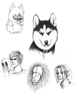 Creepypasta doodles 4 by SUCHanARTIST13