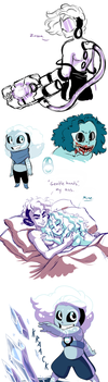 (Extremely) Random Gem Doodles by Lopoddity
