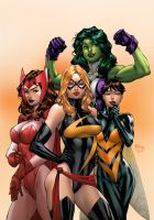 Marvel Girls by deffectx