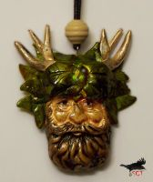 HORNED GOD PENDANT by SCT-GRAPHICS