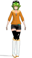 MMD - Life Reset Button GUMI - WIP by Rayne-Ray