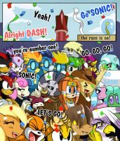 The Race is On: Pg 1 by ss2sonic
