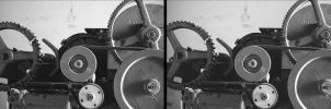 Cross-eye 3D gears by Disfigurator