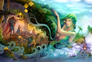 Attacked the Earth Goddesses by ninejear