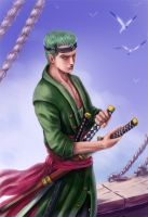 One Piece. Roronoa Zoro by AksaArt