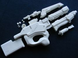 Mass Effect M96 Mattock Heavy Rifle Resin Kit by zanderwitaz
