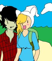 Adventure time:  Marshall Lee and Fiona by Hexo-Warehouse