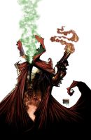 Spawn 185 variant cover art by DrawJinDraw-jinhan