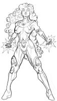 JLA 2009 - Starfire by guinnessyde