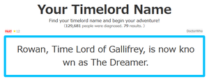 Timelord name. by Rowanstorm22
