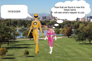 POWER RANGERS GIANTESS GROWTH CONTEST ROUND 2 A by GENETICHERO