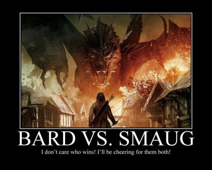 BARD VS. SMAUG by Grievous-fangirl