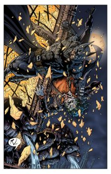 Batman by Rudy and James colored by Voodoodwarf